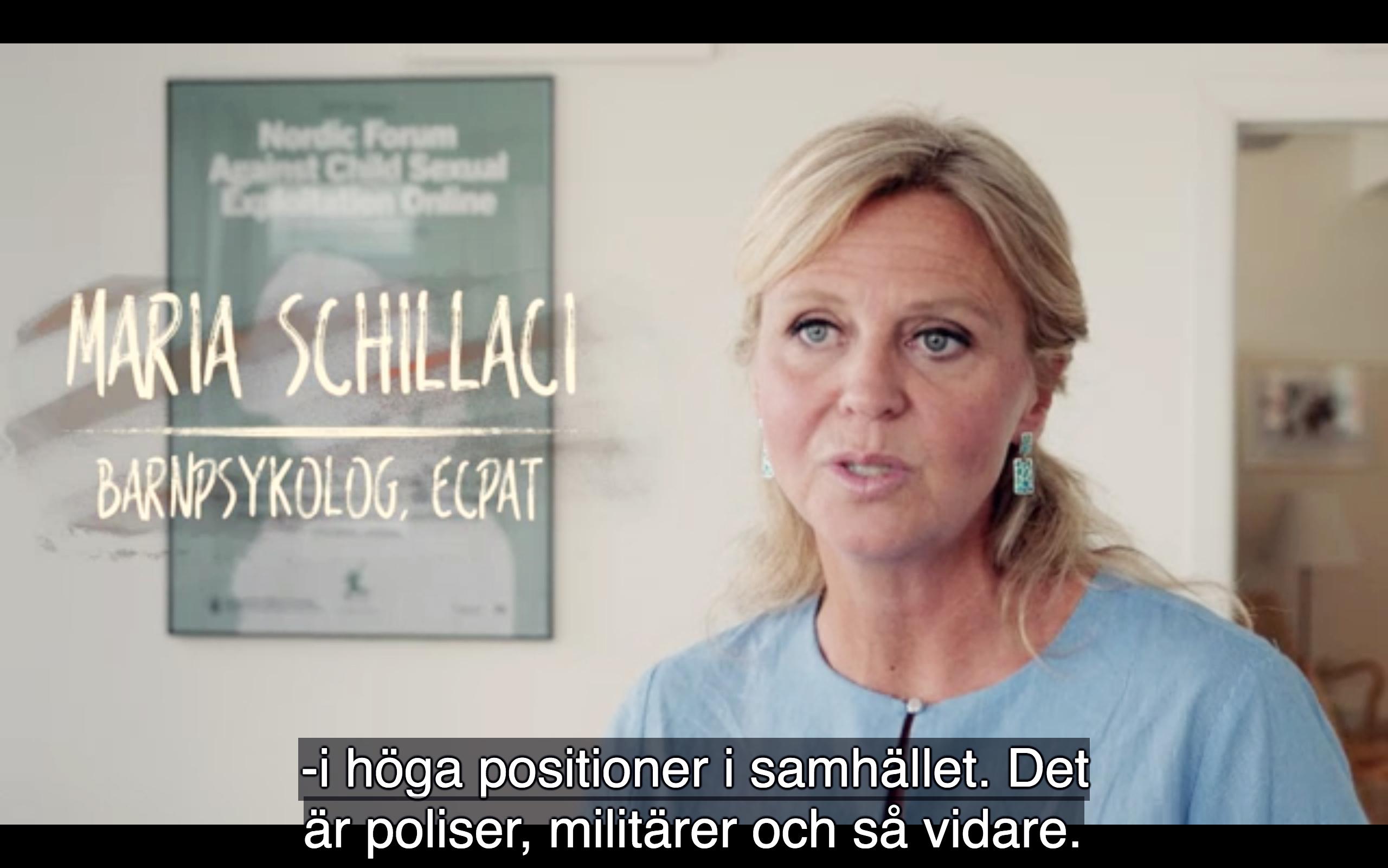 Maria Schillaci ECPAT Musikhjälpen