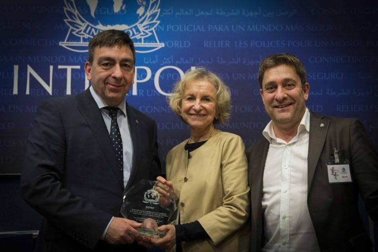 ECPAT prisas av INTERPOL för arbetet mot barnsexhandel
