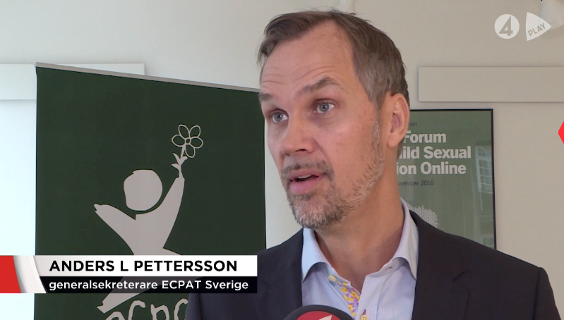 ECPAT Hotline i TV4 Nyheterna