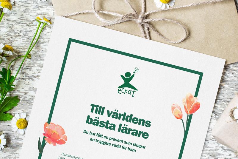 Gåvobevis ECPAT Present
